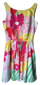 Lilly Pulitzer short dress White Flower Floral Mini on Tradesy