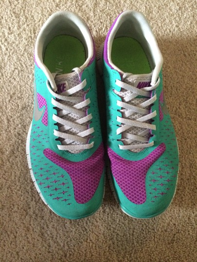 Nike Free 4.0 Purple and turquoise Athletic