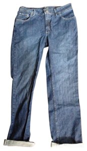 Riders by Lee 14 Denim Vintage Hipster Straight Leg Jeans-Dark Rinse