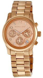Michael Kors Rose Gold Tone Stainless Steel Boyfriend Style Ladies Watch