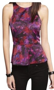 Express Peplum Sleeveless Racerback Night Out Date Night Top Red, pink, purple