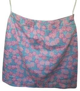 Lilly Pulitzer Floral Flowers Summer Skirt Purple and pink