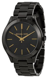 Michael Kors Black Ion Plated Classic Round Stainless Steel Casual Ladies Watch