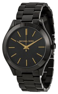 Michael Kors Classic Casual Black Ion Plated Stainless Steel ladies Watch