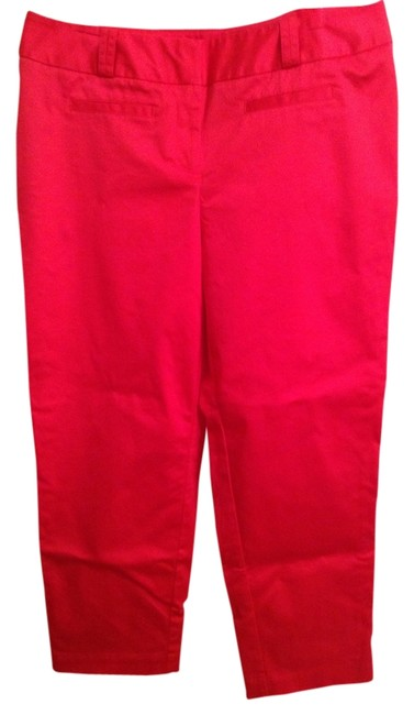 Worthington 56% Cotton 42% Nylon 2% Spandex Straight Pants Pink