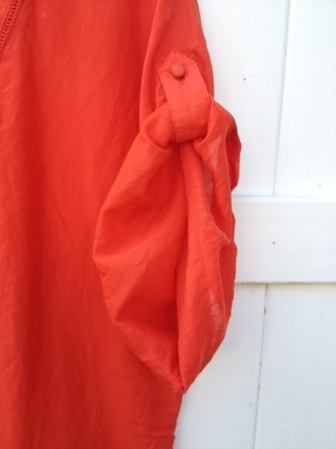 Ann Taylor LOFT 70% Cotton 30% Silk Top orange