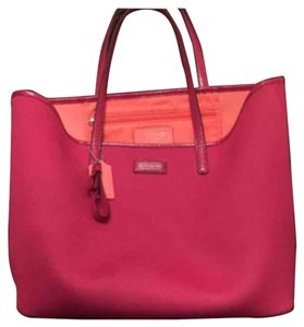 Coach Tote in Pink, Orange