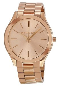 Michael Kors Classic Casual Rose Gold Stainless Steel Ladies Designer watch