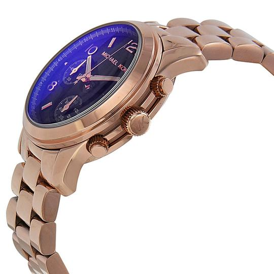 Michael Kors Iridescent Blue Dial with Rose Gold Stainless Steel casual Ladies Watch