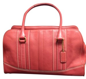 Coach Leather Satchel in Salmon