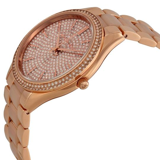 Michael Kors Blush Acetate and Rose Gold Crystal pave Dial Luxury Designer Watch
