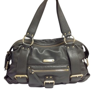 Michael Kors Leather Satchel in Dark Grey