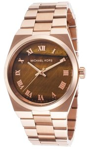 Michael Kors Rose Gold Stainless Steel with Brown Dial Ladies Casual watch