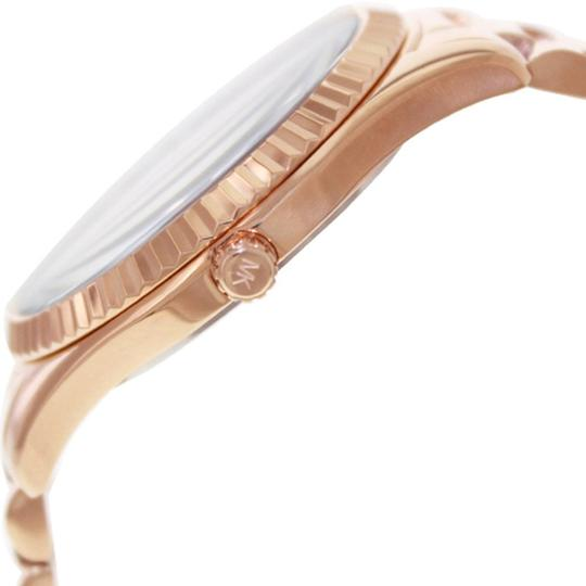 Michael Kors Espresso Brown and Crystal Dial Rose Gold Dress ladies Watch