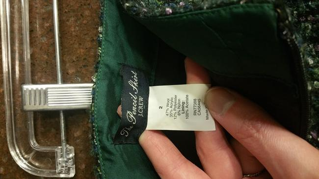 J.Crew Pencil Pencil The Pencil Skirt Green with hints of pink, blue, and white