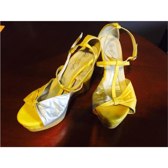 Miss Sixty Yellow/silver Wedges