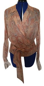 Ralph Lauren Top Paisley on camel