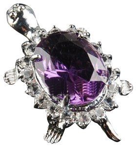 Rhinestone Purple Turtle Pendant with Free Chain & Shipping