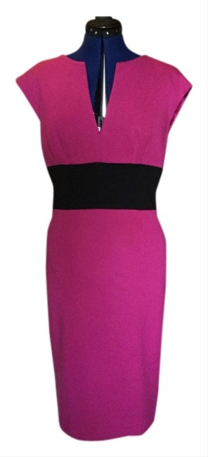 Preload https://item4.tradesy.com/images/trina-turk-fuchsia-and-black-knee-length-night-out-dress-size-8-m-5359648-0-0.jpg?width=400&height=650