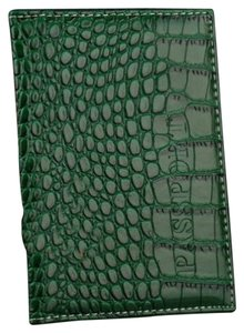 Green Alligator Passport Cover Wallet Free Shipping