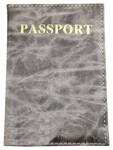 Other Grey Marbled Passport Cover Wallet Free Shipping