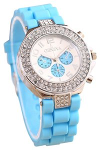 Geneva Rhinestone Quartz Sports Watch Free Shipping