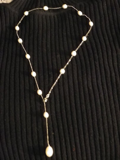 Other Genuine Fresh Water Pearl adjustable necklace on metal alloy