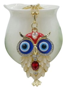 Other Big Eyed Rhinestone Owl Key Ring Key Chain Free Shipping