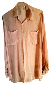 American Apparel Chiffon Top Nude