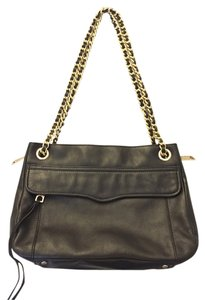 Rebecca Minkoff Swing Leather Gold Hardware Shoulder Bag