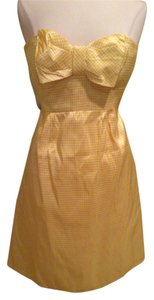 Nanette Lepore Strapless Size 2 Yellow Dress