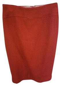 Anthropologie Red Wool Skirt Res