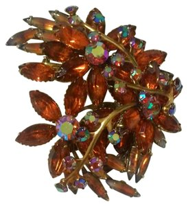Other Vintage Amber Orange Brooch
