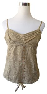 Silk Corset Top Gold