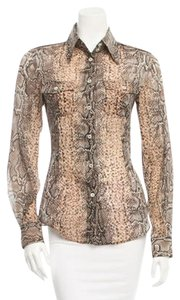 Dolce&Gabbana Button Down Shirt Python print