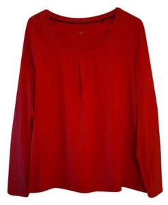 George Long Sleeved Womens T Shirt Red