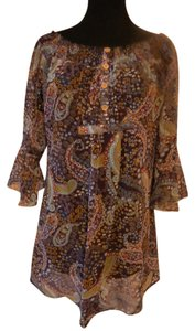 Dolled Up Top Paisley purple