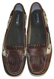 Sperry Brown/Tan/Cheetah Flats
