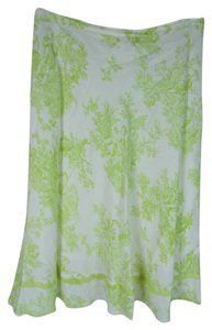 Coldwater Creek Skirt White and green