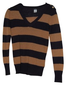 J.Crew Striped Casual V-neck Holiday Sweater