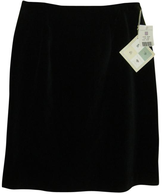 Susan Bristol Plush Mach Wash Skirt BLACK