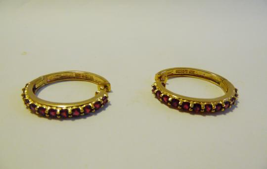 Technibond Technibond Ruby Gemstone Hugger Hoops Pierce Earrings HSN