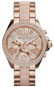 Michael Kors Michael Kors Women's Chronograph Wren Blush And Rose Gold-Tone Stainless Steel Bracelet Watch mk6096
