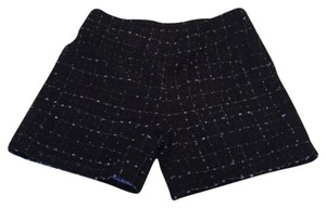 Dress Shorts Black with lilac silk weave