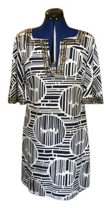 Trina Turk short dress Ivory and navy on Tradesy