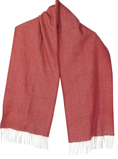 Other Red White Scarf 100% Cashmere