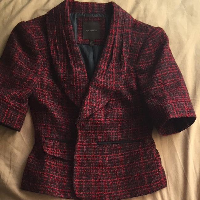 The Limited Red/black Blazer