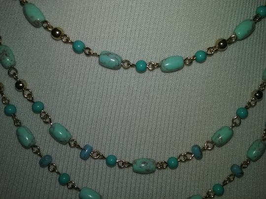 Ralph Lauren 2 PIECE SET Three Strand Turquoise Bracelet & Necklace