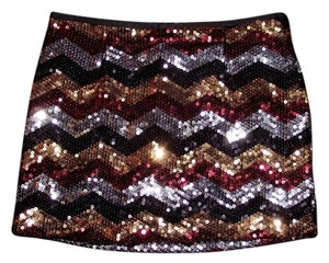 Sans Souci Sparkle Night Out Metallic Mini Skirt Gold