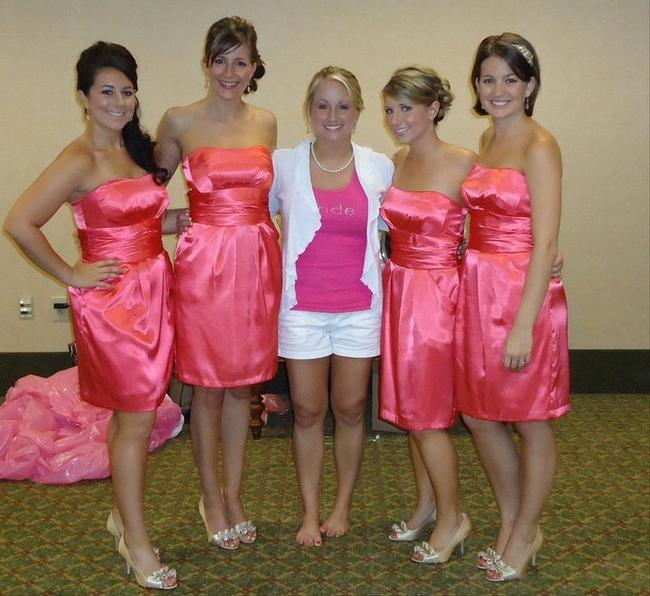 Item - Pink Cotton 39261 Sexy Bridesmaid/Mob Dress Size 4 (S)